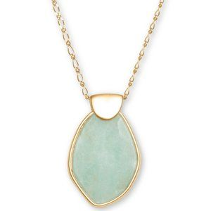 Lucky Brand Gold Tone Stone Pendant Necklace